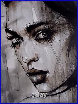Mia Peinture Originale sur Toile de Leanne Dolan, Street Art