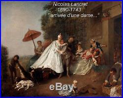 NICOLAS LANCRET 1690-1743 (SUIVEUR). GRAND & BEAU TABLEAU ROCOCO XVIIIe XIXe