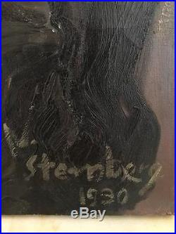 Nicolas Sternberg (1901-1960) huile sur toile judaica, superbe tableau expressio