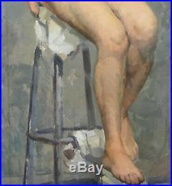 Nu Portrait de femme école française du XXème siècle huile sur toile Art Déco