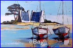 Original JP DOUCHEZ Tableau Peinture huile sur toile au couteau Drouot Artmajeur