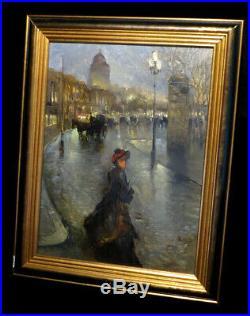 PARIS BELLE EPOQUE PONOMARENKO (Mikhaïl) Huile sur toile, signée