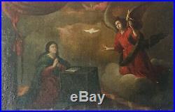 PEINTURE ANCIENNE RELIGEUSE XVIIè SIÈCLE. HUILE SUR TOILE. ÈCOLE ITALIENNE