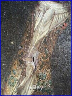 PEINTURE À L'HUILE ÉPOQUE XVIIIè PORTRAIT DE NOBLE BLASON PEINTURE ALLEMANDE