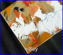 PEINTURE TABLEAU Ballet Opéra Paris huile sur toile signé TINOCO coté AKOUN