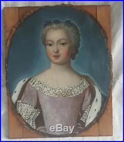 PORTRAIT JEUNE FEMME NOBLE EPOQUE FIN 17ème siècle, début 18è Huile sur toile