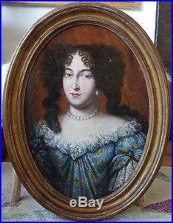 PORTRAIT PRESUME DE MARIE MANCINI EPOQUE FIN XVII ème, 17 ème Huile sur toile