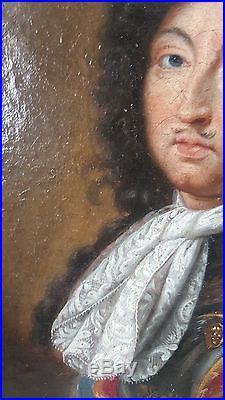 PORTRAIT ROI LOUIS XIV EPOQUE XVIII ème Huile sur toile