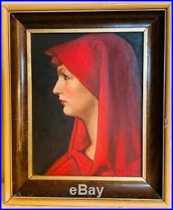 PORTRAIT huile sur toile datée 1961 et Signée F ROY CAMILLE