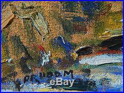 PRUDOM Georges PRUD'HOMME 1927-1992 PAYSAGE Tableau Peinture Huile FAUVISME