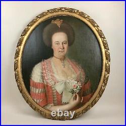 Paire de portraits XVIIIème