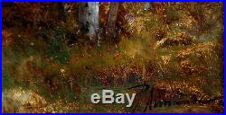 Paul ARMANDI XIXe, paysage, Barbizon, bergère, moutons, ruisseau, arbre, tableau