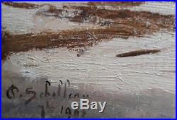 Paul Sebilleau Peche Didonne Huile Tableau Peinture Francais Marine Plage Toile