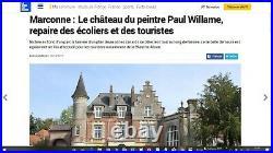 Paul WILLAME 1898, Dîner au Château Marconne, Hesdin