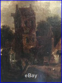 Paysage au Bord de leau, Flamand XVIIeme