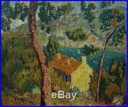 Paysage marin Cavalaire, Var, Joseph Lépine (1867-1943) post impressionnisme