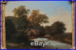 Paysage romantique vers 1840/50