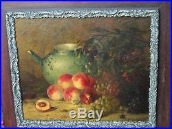 Pêches et raisins. Nature morte d' Emile Godchaux (1860-1938), Bordeaux