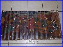 Peinture à l'huile d'Espagne XVIII°s Oil Painting 18th La collecte des Impôts