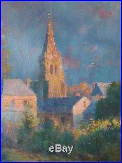 Peinture à l'huile sur toile impressionniste paysage couché de soleil painting