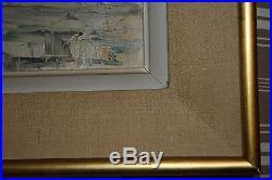 Peinture / huile sur toile vue de Paris signé Kristoff (peintre Russe)