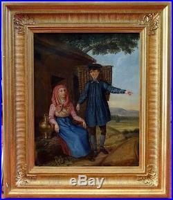 Pierre-Emmanuel Dielman, 1830, Bénézit, Grosse Cote! Le Colporteur! Superbe