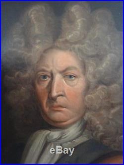 Portrait D Homme De Qualite Ecole Anglaise Xviii° Xix°