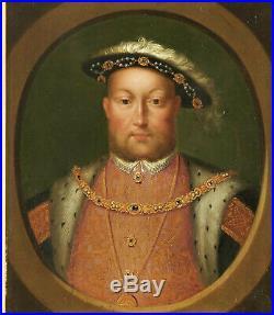 Portrait De Henri VIII Dans Le Goût De Holbein. Huile sur panneau