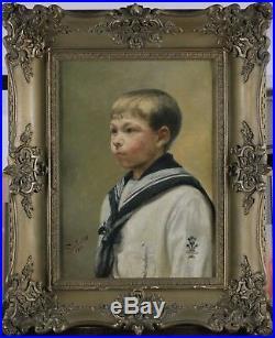 Portrait, Le jeune garçon en tenue de marin, 1928, Signé à identifier