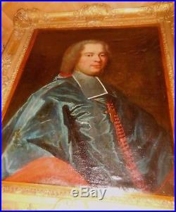 Portrait XVIII d, un PRELAT eveque ou archeveque FRANCAIS bien encadré RIGAUD