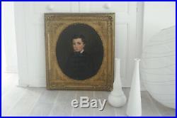 Portrait à vue ovale de P Courtey dit l'ainé 84 x 77 HST