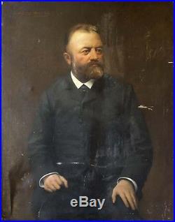 Portrait d'homme HST Charles Joseph WATELET (1867-1954) Bruxelles