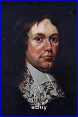 Portrait d'homme au jabot Ecole Française du 17 ème siécle