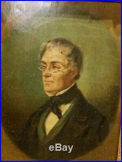 Portrait d homme, epoque Napoleon iii, huile sur toile