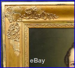Portrait d'homme époque Second Empire Huile sur toile XIXème siècle