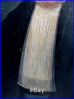Portrait d'un Magistrat en Robe d'Avocat époque 1830 Magistrature d'Angers XIXe