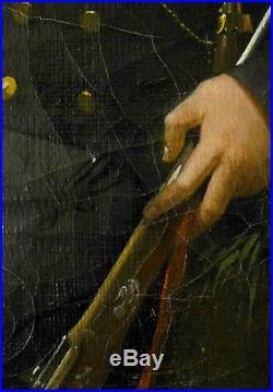 Portrait d'un gentilhomme chasseur et son chien époque EMPIRE / Restauration