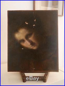 Portrait de Femme XIXème DLG Eugène Carrière Huile sur toile Symboliste
