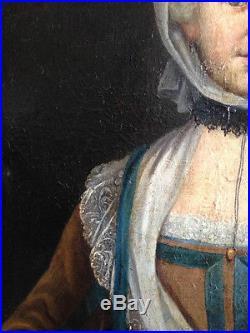 Portrait de Femme à la vielle, Ecole française du XVIIIe siècle, vers 1750