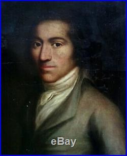 Portrait de Gentilhomme Ecole italienne du XVIIIème siècle Huile sur toile