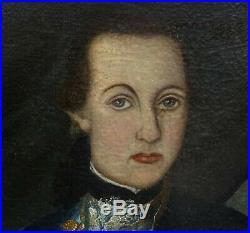 Portrait de Gentilhomme Huile sur Toile Ecole Française du XVIIIème siècle