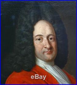 Portrait de Gentilhomme d'Epoque Louis XIV Huile sur Toile début XVIIIème siècle