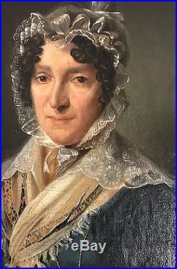 Portrait de femme en huile sur toile L. Boilly vers 1830