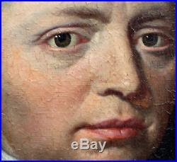 Portrait de gentilhomme Epoque XVIIème siècle Huile sur toile