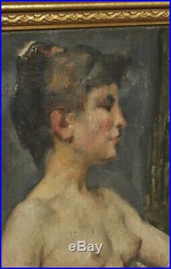 Portrait en buste signé Jean Celestin DANGUY (1863-1926) HST