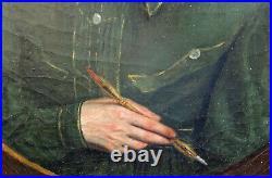 Portrait ou autoport d'homme Ecole Française du XIXème siècle Huile sur toile