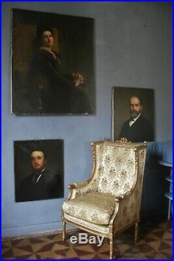 Portrait signé Lievin De Winne 1873 H 71 x L 56