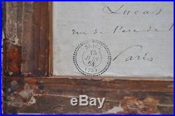 RARE Barbizon Tableau XIX ème Italie Italia Rome Ariccia peinture signée COROT