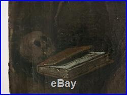 Rare ECOLE FLAMANDE du XVIIème. 2 SAINTS ermites. Huile sur toile. CADRE
