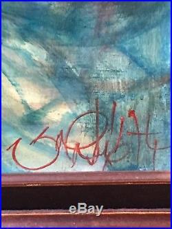 Rare tableau huile sur toile signé du peintre valadié jean-baptiste
